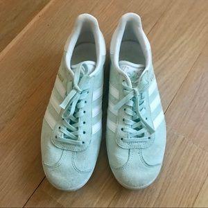 ADIDAS GAZELLE Mint Green Suede Sneakers